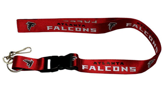 "Atlanta Falcons Red Primary Breakaway Lanyard 26"" Buckle w/ Key Ring"