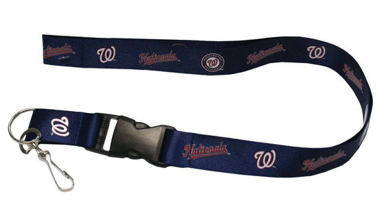 "Washington Nationals Navy Blue Primary Breakaway Lanyard 26"" Buckle w/ Key Ring"