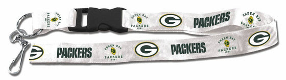 "Green Bay Packers Retro Throwback Breakaway Lanyard 26"" Buckle w/ Key Ring"