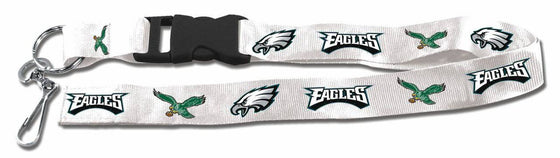 "Philadelphia Eagles Retro Throwback Breakaway Lanyard 26"" Buckle w/ Key Ring"