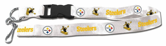 "Pittsburgh Steelers Retro Throwback Breakaway Lanyard 26"" Buckle w/ Key Ring"