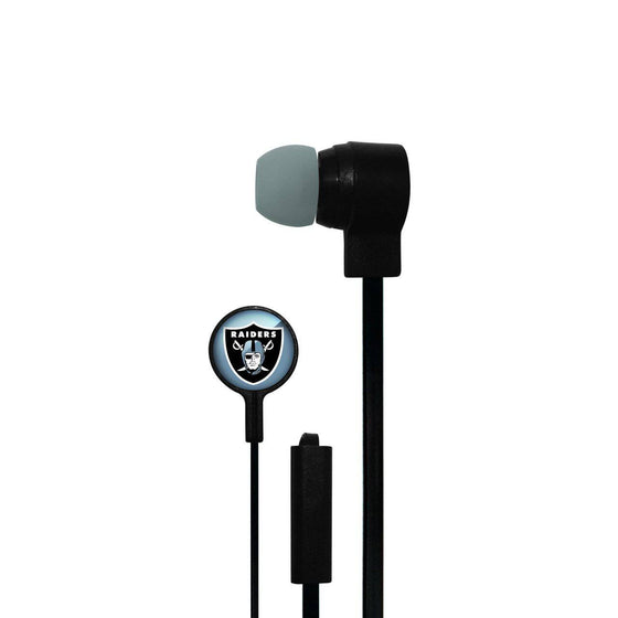 Oakland Raiders Big Logo Ear Buds