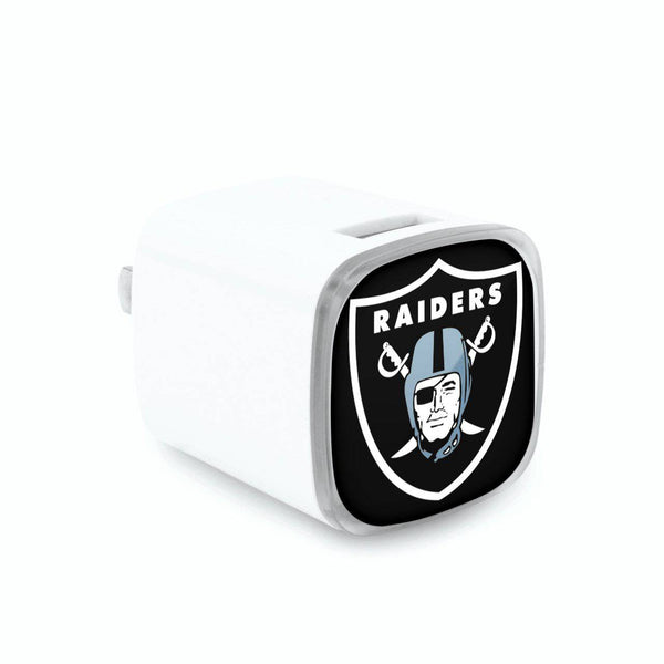Oakland Raiders Dual USB Wall Charger