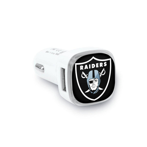 Oakland Raiders Dual USB Car Charger