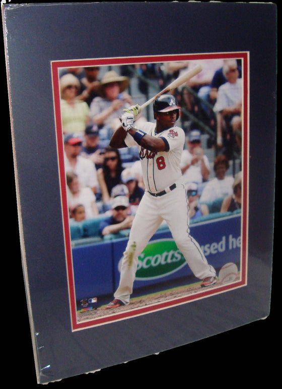 Justin Upton Atlanta Braves White Matted 8x10 Photo Picture Poster Print - 757 Sports Collectibles
