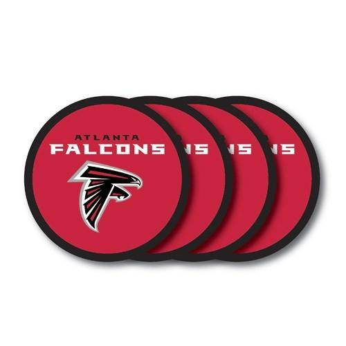 NFL Atlanta Falcons Vinyl Coaster Set - 4 Pack - 757 Sports Collectibles