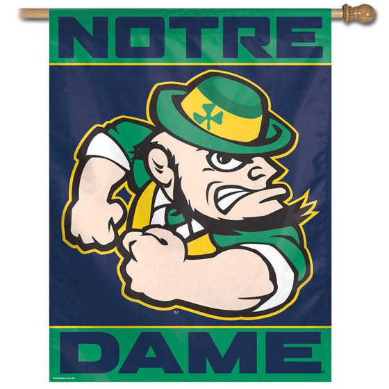 "Notre Dame Fighting Irish Forearm Large Vertical Flag 27""x37"""