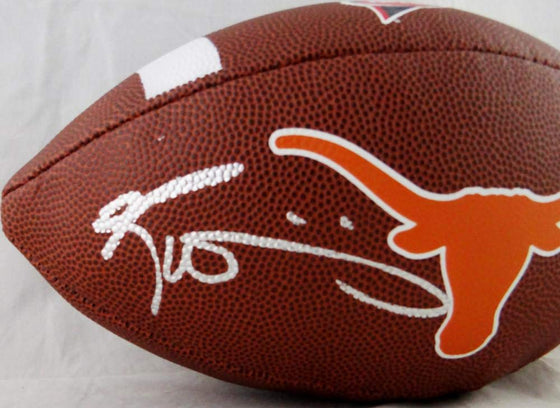 Ricky Williams Signed Texas Longhorns Wilson Super Grip Football w/HT 98- JSA W Auth