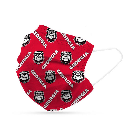 Georgia Bulldogs Face Mask Disposable 6 Pack
