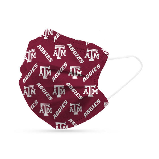 Texas A&M Aggies Face Mask Disposable 6 Pack