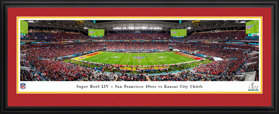 Kansas City Chiefs Super Bowl LIV 54 Champions Super Bowl 54 Kickoff Panorama - Deluxe Frame