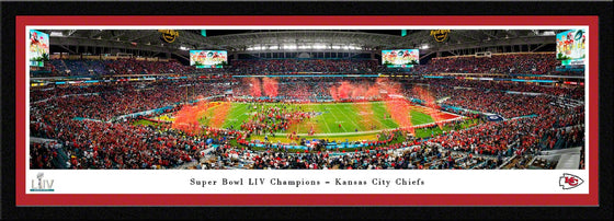 Kansas City Chiefs Super Bowl LIV 54 Champions Super Bowl 54 Celebration Panorama - Select Frame