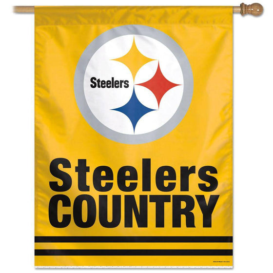 "Pittsburgh Steelers Steelers Country Large Vertical Flag 27""x37"""