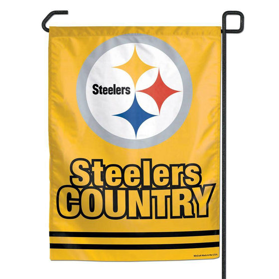 "Pittsburgh Steelers Country Small Garden Flag 11""x15"""