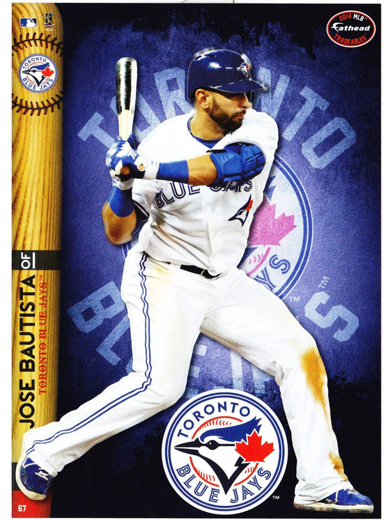 MLB Toronto Blue Jays Jose Bautista Fathead Tradeable Decal Sticker 5x7 - 757 Sports Collectibles