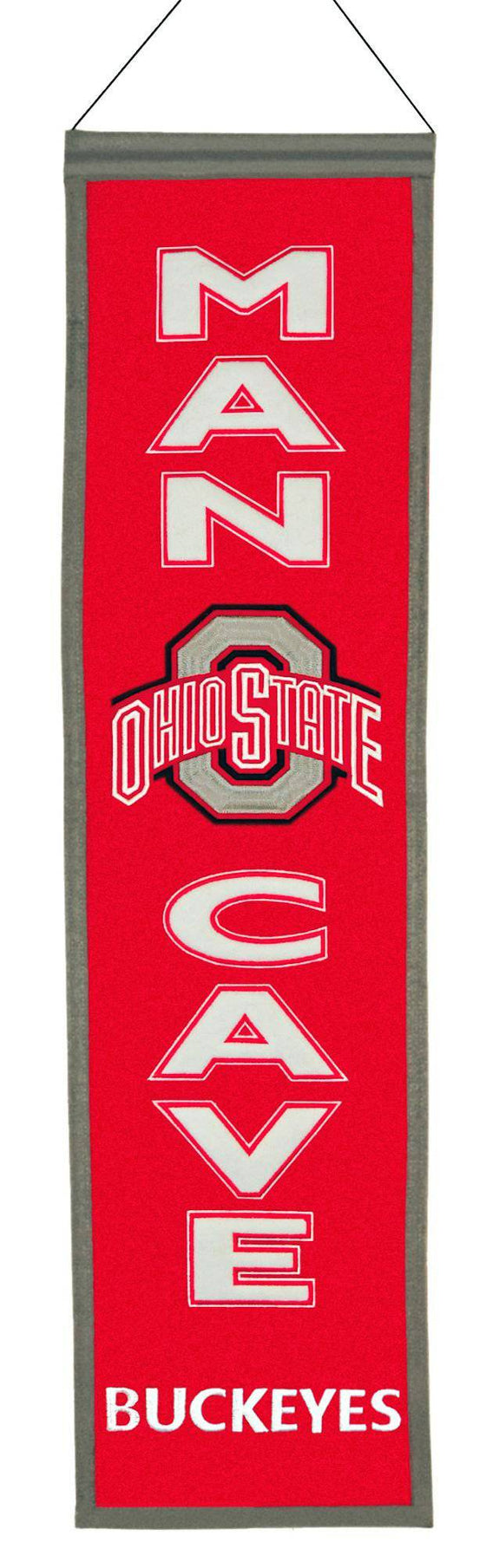 Ohio State Buckeyes Banner Wool Man Cave (CDG)