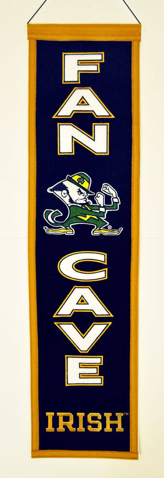 Notre Dame Fighting Irish Banner Wool Man Cave (CDG)