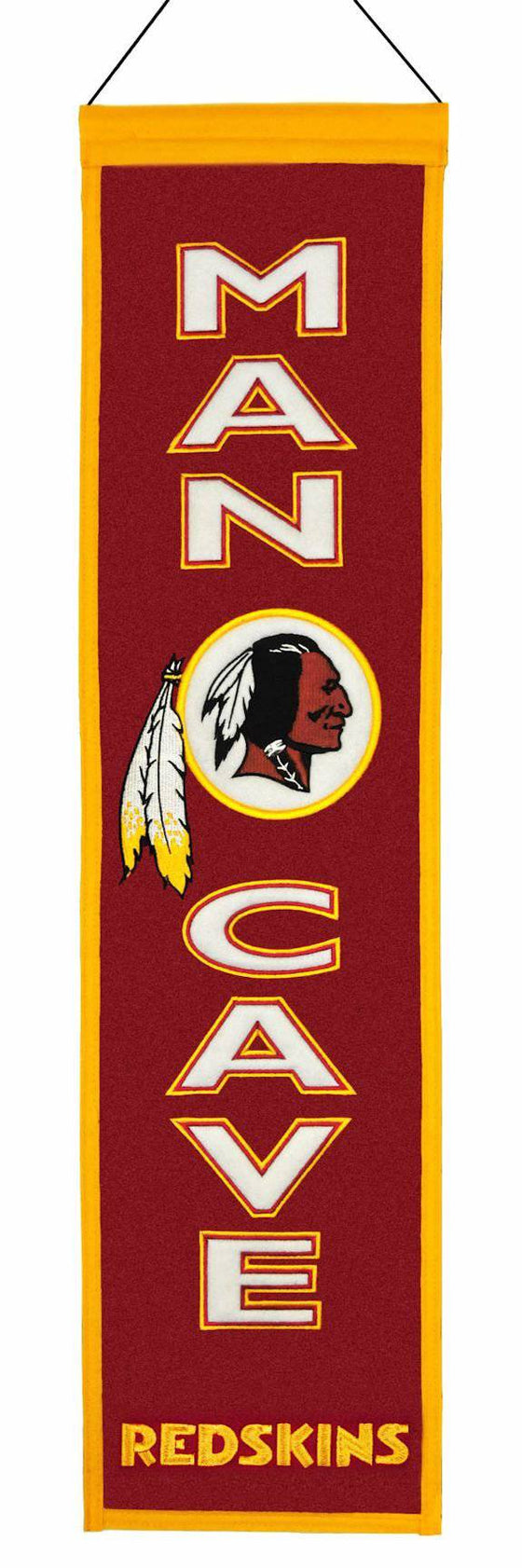 Washington Redskins Banner Wool Man Cave (CDG)