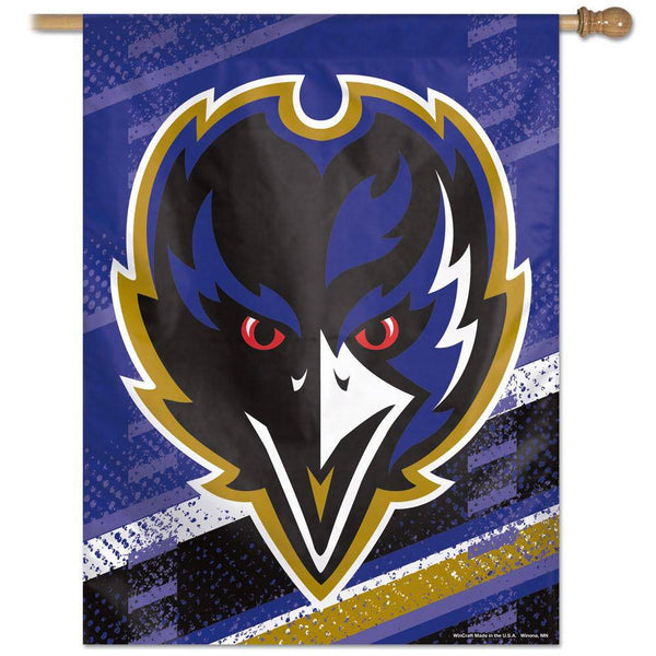"Baltimore Ravens Front Large Vertical Flag 27""x37"""