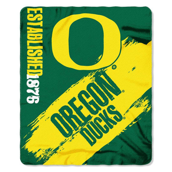 Oregon Ducks Blanket 50x60 Fleece College Painted Design (CDG)