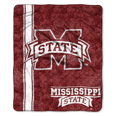 Mississippi State Bulldogs Blanket 50x60 Sherpa Jersey Design (CDG)