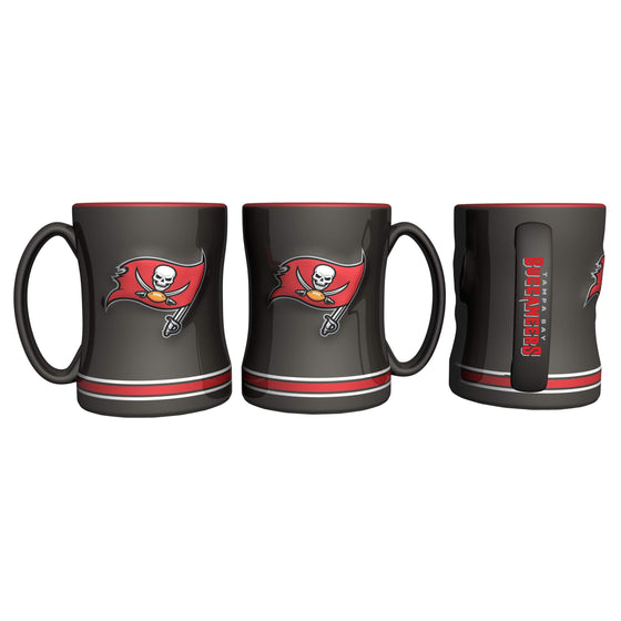 Tampa Bay Buccaneers Coffee Mug - 14oz Sculpted Relief - New Logo (CDG)