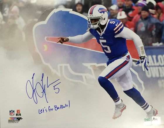 "NFL Tyrod Taylor Buffalo Bills Signed Auto 16x20 Photo Inscribed ""Let's Go Buffalo!"" ( JSA PSA Pass) 757"