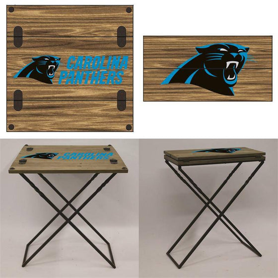 "Preorder - Carolina Panthers Folding Armchair Portable Table 20""x20""x24"" - 757 Sports Collectibles"