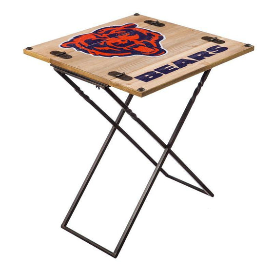 "Preorder - Chicago Bears Folding Armchair Portable Table 20""x20""x24"" - 757 Sports Collectibles"