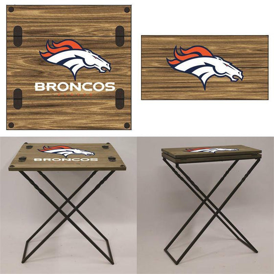 "Preorder - Denver Broncos Folding Armchair Portable Table 20""x20""x24"""