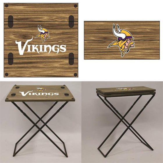 "Preorder - Minnesota Vikings Folding Armchair Portable Table 20""x20""x24"" - 757 Sports Collectibles"