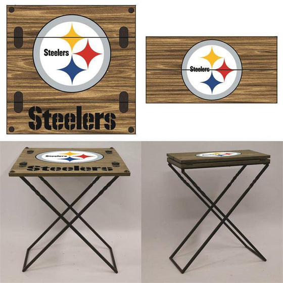 "Preorder - Pittsburgh Steelers Folding Armchair Portable Table 20""x20""x24"""
