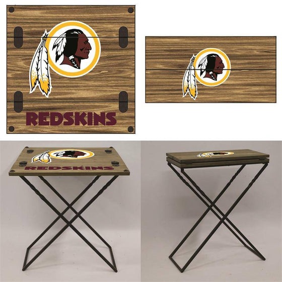 "Preorder - Washington Redskins Folding Armchair Portable Table 20""x20""x24"""