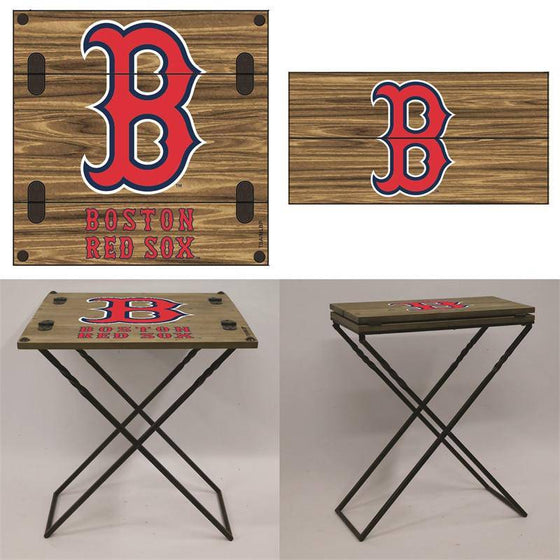 "Preorder - Boston Red Sox Folding Armchair Portable Table 20""x20""x24"""