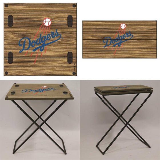 "Preorder - Los Angeles Dodgers Folding Armchair Portable Table 20""x20""x24"""