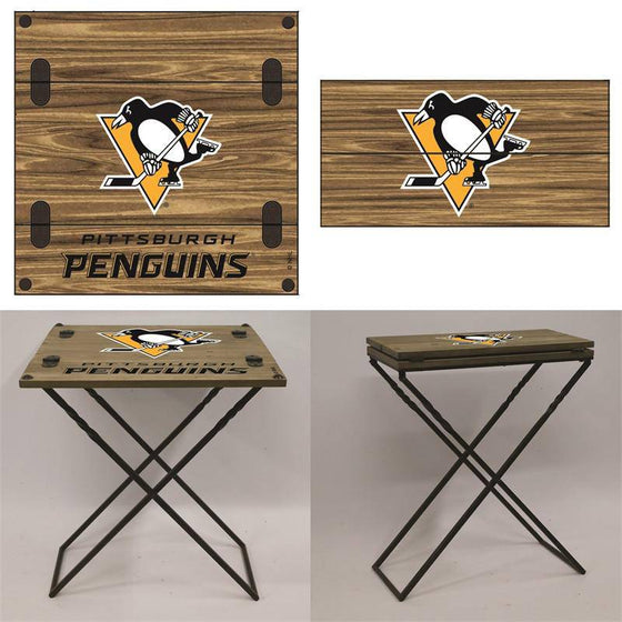 "Preorder - Pittsburgh Penguins Folding Armchair Portable Table 20""x20""x24"""