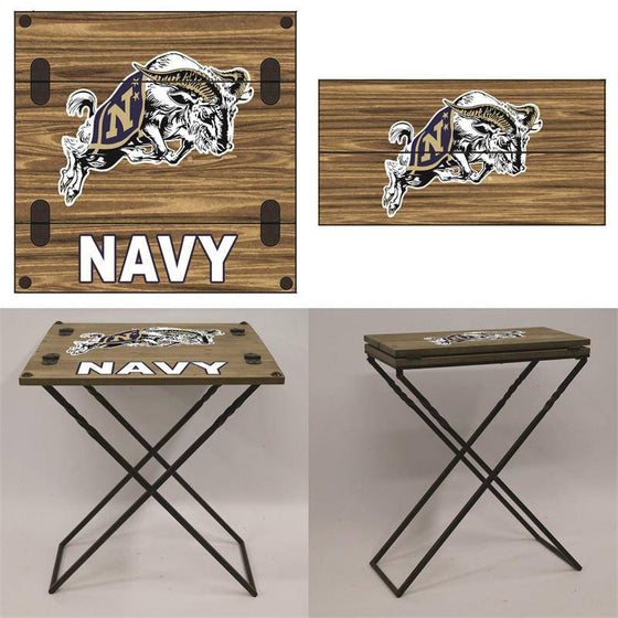 "Preorder - Navy Naval Academy Midshipmen Folding Armchair Portable Table 20""x20""x24"" - 757 Sports Collectibles"
