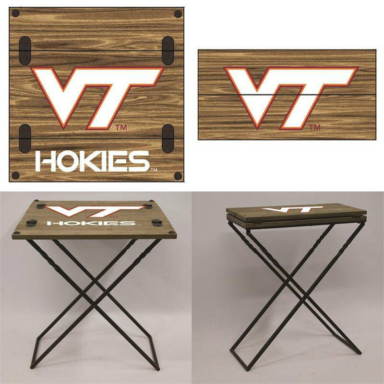 "Preorder - Virginia Tech VT Hokies Folding Armchair Portable Table 20""x20""x24"" - 757 Sports Collectibles"