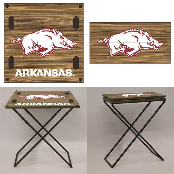 "Preorder - Arkansas Razorbacks Folding Armchair Portable Table 20""x20""x24"" - 757 Sports Collectibles"