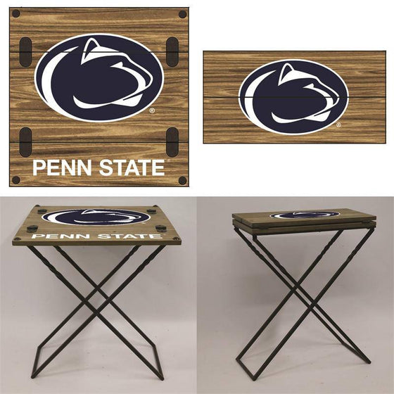 "Preorder - Penn State PSU Nittany Lions Folding Armchair Portable Table 20""x20""x24"""
