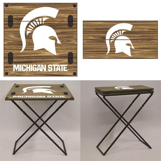 "Preorder - Michigan State Spartans Folding Armchair Portable Table 20""x20""x24"" - 757 Sports Collectibles"