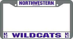Northwestern Wildcats Chrome License Plate Frame (CDG)