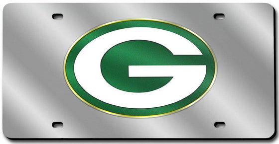 Green Bay Packers Laser Cut Silver License Plate (CDG)