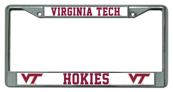 Virginia Tech Hokies Chrome License Plate Frame (CDG)