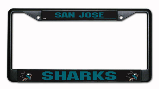 San Jose Sharks Black Chrome License Plate Frame (CDG)