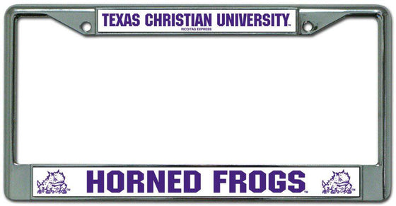 TCU Horned Frogs Chrome License Plate Frame (CDG)