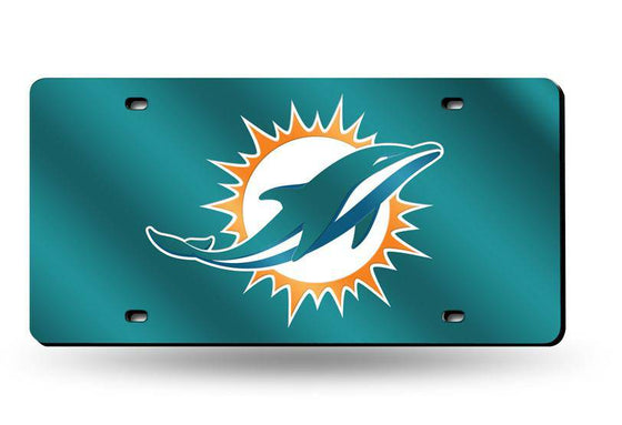 Miami Dolphins Laser Cut Teal License Plate (CDG)