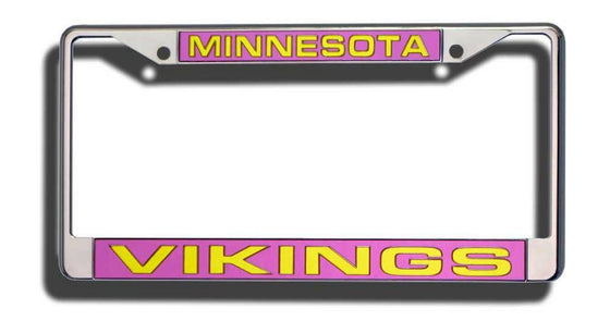 Minnesota Vikings Laser Cut Chrome License Plate Frame (CDG)