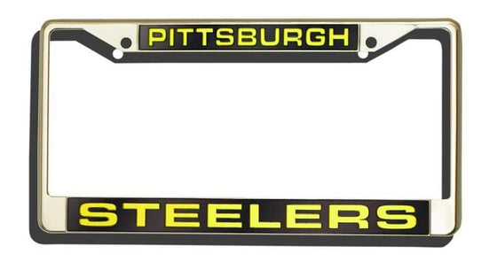 Pittsburgh Steelers Laser Cut Chrome License Plate Frame (CDG)