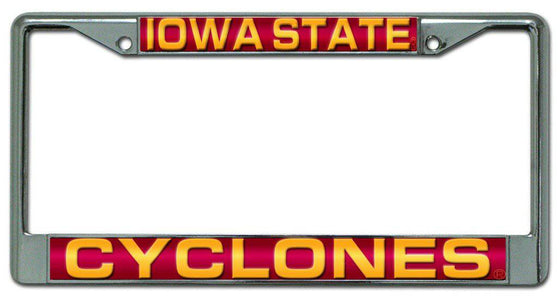 Iowa State Cyclones Laser Cut Chrome License Plate Frame (CDG)